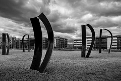 Sculptures At Lindholmen II (Mabry Campbell) Tags: blackandwhite bw sculpture art monochrome gteborg photography photo europe photographer image sweden stones bricks gothenburg may cobblestones photograph 100 sverige 24mm scandinavia f71 fineartphotography goteborg architecturalphotography lindholmen vstragtaland commercialphotography fav10 2013 architecturephotography tse24mmf35l houstonphotographer sec eos5dmarkiii mabrycampbell may252013 201305250h6a2401