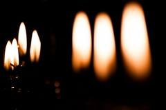 Menorah Candlelight (Photography by Chris Howard) Tags: chris by canon project photography eos photo long candles howard year photoaday 365 hanukkah chanukkah menorah hanukkiah 50d project365 photo365 twittertuesday photographybychrishoward wwwphotographybychrishowardcom