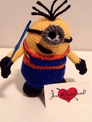 """Crochet Minion • <a style=""""font-size:0.8em;"""" href=""""http://www.flickr.com/photos/66263733@N06/11371795693/"""" target=""""_blank"""">View on Flickr</a>"""