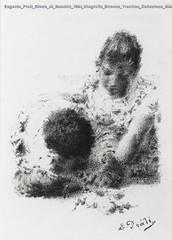 Eugenio Prati Gioco di Bambini 1894 litografia Strenna Trentina Collezione Biblioteca comunale di Trento