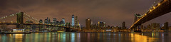 The Brooklyn and the Manhattan Bridge, Manhattan Skyline, New York. (pedro lastra) Tags: new york city night photography downtown sony a7r leica3570mmf4