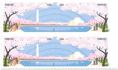 USA stamp, 2012, Cherry Blossoms, Washington D C (sftrajan) Tags: pink blue primavera washingtondc spring stamps stamp cherryblossoms timbre 2012 postagestamp philately sello briefmarke  francobollo usastamp