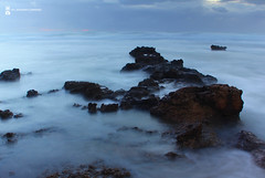 Calm & sea (sandra corrado) Tags: sea mare civitavecchia longexposition