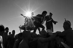 (ajpscs) Tags: festival japan tattoo japanese tokyo nikon kamakura  nippon  enoshima matsuri shonan seijinshiki mikoshi fujisawa fundoshi fisheyelens d300 105mm  kataseenoshima  comingofageday  higashihama seijinnohi    ajpscs  katasekaigan tokyo japan midwinterbath  kanchmikoshirenseitaikai 2014
