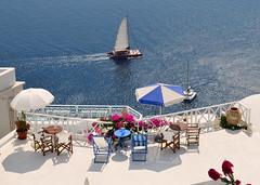 Santorini (jenni747) Tags: travel sea holiday island boat balcony santorini greece bej the4elements