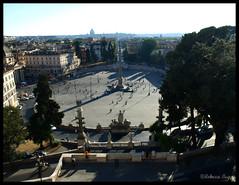 Piazza del Popolo (DameBoudicca) Tags: plaza italien italy rome roma square italia place platz piazza torg rom italie piazzadelpopolo pincio 広場 イタリア ローマ pincianhill