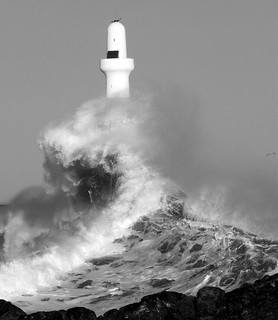 Aberdeen Harbour - Big Wave