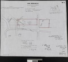 New Brunswick tower and blockhouse, Carleton—plan of War Department property / Nouveau Brunswick, tour et blockhaus, Carleton – Plan de la propriété du ministère de la Guerre