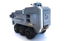 Back (Piece of Slice) Tags: dawn lego military wheels scifi forge apc