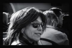 On the bus (On Explore) (Frank Fullard) Tags: street portrait bw mountain reflection bus smile sunshine lady mono glasses spain candid shades explore espana toledo espania touristvisitor fullard frankfullard vision:mountain=0554 vis