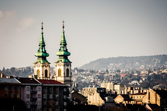 (crybaby75) Tags: church fog canon photography spring hungary afternoon budapest foggy saturday roofs photowalk bigcalm 2014 twotowers batthyny vroskpek batyi 1000d canoneos1000d