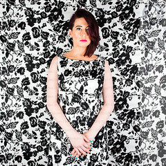 KD4_2417.jpg (ffoto keith morris) Tags: blackandwhite woman girl face standing studio person model pattern dress background frock stood pattened vision:people=099 vision:face=099 vision:outdoor=0975 leannebyrne