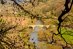 VIEW FROM COPPETT HILL (chris .p) Tags: uk trees england river march spring nikon view hill gb herefordshire goodrich wye 2014 kerne coppett d7000 mygearandme