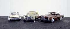 The Lincoln Continental Mark Series (JCarnutz) Tags: 1971 continental lincoln 1956 1941 markii diecast markiii franklinmint 124scale resincast automodello