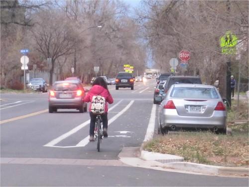Photo - Spruce Street Buffered Bike Lanes