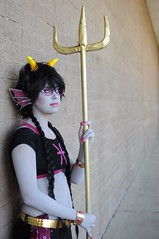 Meenah - Homestuck (Anime Indian) Tags: arizona woman game anime girl beautiful golden pretty tucson cosplay convention online troll cosplayer trident meenah conichiwa cuttlefishculler homstuck connichiwa2014