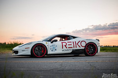 Ferrari 458 (Dylan King Photography) Tags: red white canada black vancouver nikon bc unique rally wheels wrapped columbia ferrari richmond diamond british carbon custom fiber rims pur reiko livery 2014 458 d610 novitec warpworkz