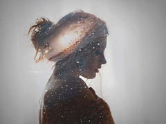 She's got the Universe in her soul (Benedetta ed Emanuele) Tags: blue red portrait sky macro love nature girl beautiful silhouette 50mm star blackwhite amazing friend space galaxy universe stardust nikonclub