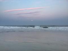 Full moon ocean (artseejodee) Tags: ocean sunset summer vacation sky beach warm fullmoon wildwood atlanticocean oceansunset 08260 iphone6