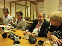 Tania de Jong, Edward de Bono & Sue Crook over lunch