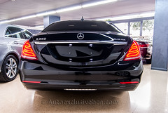 Mercedes - Benz Clase S 350 BT Largo ( w222 ) - Negro Obsidiana - Piel Marrn (Auto Exclusive BCN) Tags: barcelona auto mercedes benz s tienda 350 largo bt clase exclusive piel marrn concesionario w222 autoexclusivebcn autoexclusive techopanormico