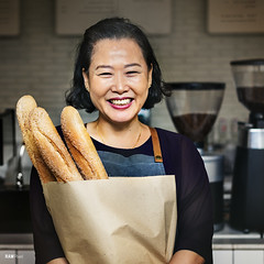 Woman Fresh Baked Baguette Homemade Concept (Rawpixel Ltd) Tags: apron asianethnicity bag baguette bake baker bakery baking bistro bread cafe carbohydrates carbs coffeeshop coffeehouse cooked delicious diet eat female flour food fresh freshbaked freshly grain health healthy healthyeating healthyfood homemade lunch nutrition otherkeywords person profession retail senioradult shop smiling stack staplefood store waitress wheat wholemeal woman rawpixelcom