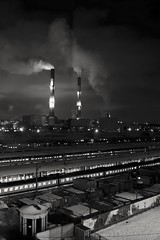 Different Moscow. (rededia) Tags: city cityscape urban industry industrial moscow monochrome sky smoke steam nikon tamron d750