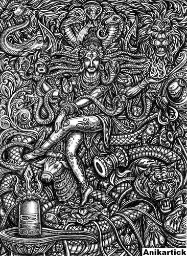 LORD SHIVA / ART / DRAWING / CONCEPT / CREATIVE ART