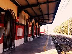 Stazione di oria (cosimocarbone) Tags: infanzia binari paese ricordi oria stazione