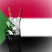 Peace Symbol with National Flag of Sudan