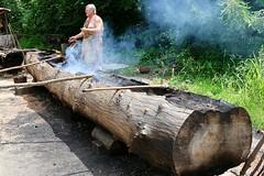 Powhatan Indian village - building a canoe (nutzk) Tags: virginia jamestown settlement powhatan indian village canoe