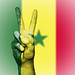 Peace Symbol with National Flag of Senegal