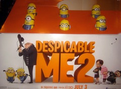 Despicable Me 2 Whack A Mole Minion Game Standee  0191 (Brechtbug) Tags: street new york city nyc 2 two game me yellow computer movie poster theater with theatre cartoon billboard lobby animation critters amc mole 34th whack gru sequel despicable minion standee henchmen standees 2013 a 05202013