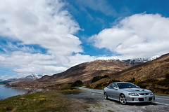 Monaro In The Highlands (www.bazpics.com) Tags: auto mountain lake holiday mountains car silver landscape scotland scenery hill may scottish hills loch monaro vauxhall