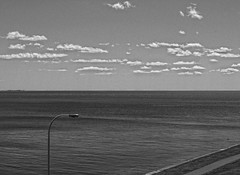 Horizon (cjh44) Tags: ontario lamp clouds blackwhite path kingston photowalk portsmouth lakeontario henrys kph