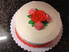 Fondant Rose Cake by Amanda, RDU NC, www.birthdaycakes4free.com