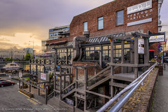 Wharfside Sunset (Cameron Knowlton) Tags: sunset canada architecture stairs restaurant harbor twilight nikon bc harbour dusk sunsets victoria architectural potd inner hdr innerharbor innerharbour d600 wharfside