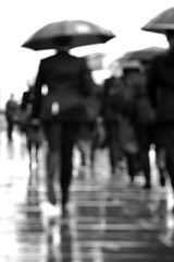 Rush Hour (Part of a Series) (A-Lister Photography) Tags: life city uk portrait people blackandwhite london wet weather silhouette vertical walking workers suits shadows employment pavement walk citylife streetphotography lifestyle running business sidewalk rush commuting rushhour umbrellas commuters reallife cityoflondon businessmen businesspeople officeworkers worklife realpeople wetreflections adamlister nikond5100 alisterphotography
