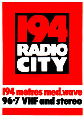 Radio City car sticker 1977
