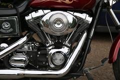 Hollyville Cafe Classic Bike Meet 21-07-2013 (34) (kenjonbro) Tags: uk morning red england classic kent sunday engine harleydavidson westkingsdown dynawideglide kenjonbro canoneos5dmkiii canonef2470mm128liiusm hollyvillecafe vwin