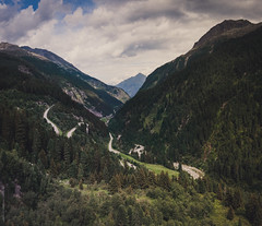 #122 - Tirol (thomasrichterphotography) Tags: road trees sky panorama mountains alps green clouds austria tirol sterreich rocks day view cloudy dam alpen twisted zillertal 2011 twistedroad