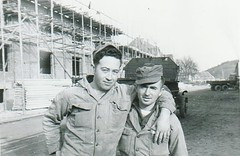 A couple of my Father's Army buddies while stationed in Germany - 1950 (bslook1213) Tags: oldphotos oldfamilyphotos blackwhitephotos