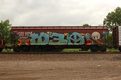 D30 (The Braindead) Tags: art minnesota train bench photography graffiti painted tracks minneapolis rail explore beyond the