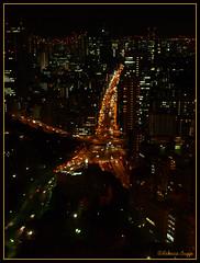 Tokyo night view (DameBoudicca) Tags: road tower japan night tokyo noche strada torre tour carretera nacht route  tokyotower torn nippon  shiba turm  nuit japon notte giappone minato nihon weg tokio vg japn     shibapark     sakuradadori shibaken mygearandme mygearandmepremium mygearandmebronze iwaidadori