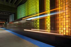 Electric Rainbow (player_pleasure) Tags: chicago canon cta el ohare ltrain lighttrails chicagoist 70d