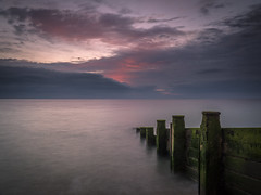 Another View (Damian_Ward) Tags: ocean longexposure morning sea beach sunrise lumix dawn coast kent seaside day cloudy panasonic explore le redsky minimalism seafront groyne dmc groin kingsdown mft gnd gh3 explored 1445mmlens leefilters coastalengineering damianward micro43 microfourthirds hfs014045 damianward hard06