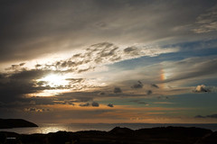 Sun dog over Broughton Bay - Explore 10..9.13 - thanks! (Jo Evans1 - off and on for a while) Tags: sky clouds evening bay gower broughton sundog