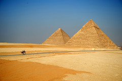 The Great Pyramid in Giza (seungyoung) Tags: day pyramid egypt clear giza