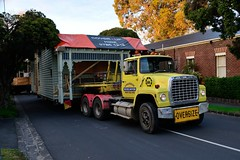 Moving House, Kew (Melbourne) n 2 (heritagefutures) Tags: house kew truck moving police australia melbourne victoria weatherboard shifting semitrailer