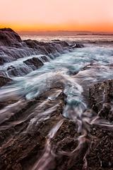 Incoming (Kristin Repsher) Tags: water sunrise nikon rocks waves australia queensland currumbin goldcoast currumbinbeach d700 nd16 afsnikkor2470mmf28ed